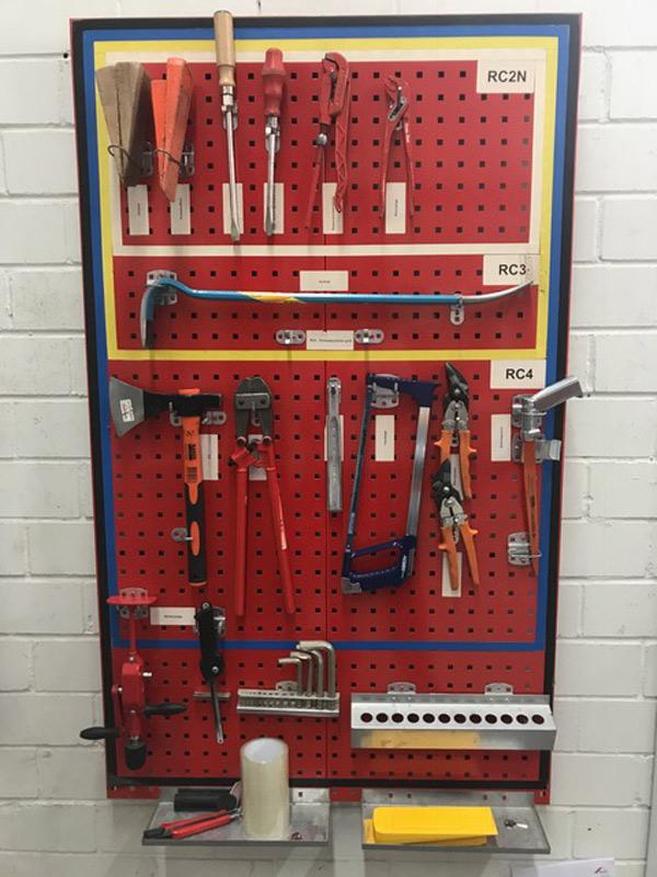 Werkzeuge zur Sicherheitsprüfung RC2, RC3 und RC4